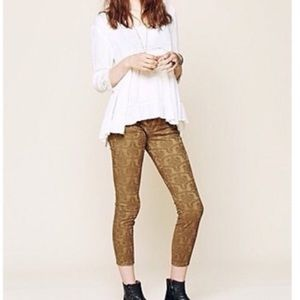 Free People textured skinny jeans